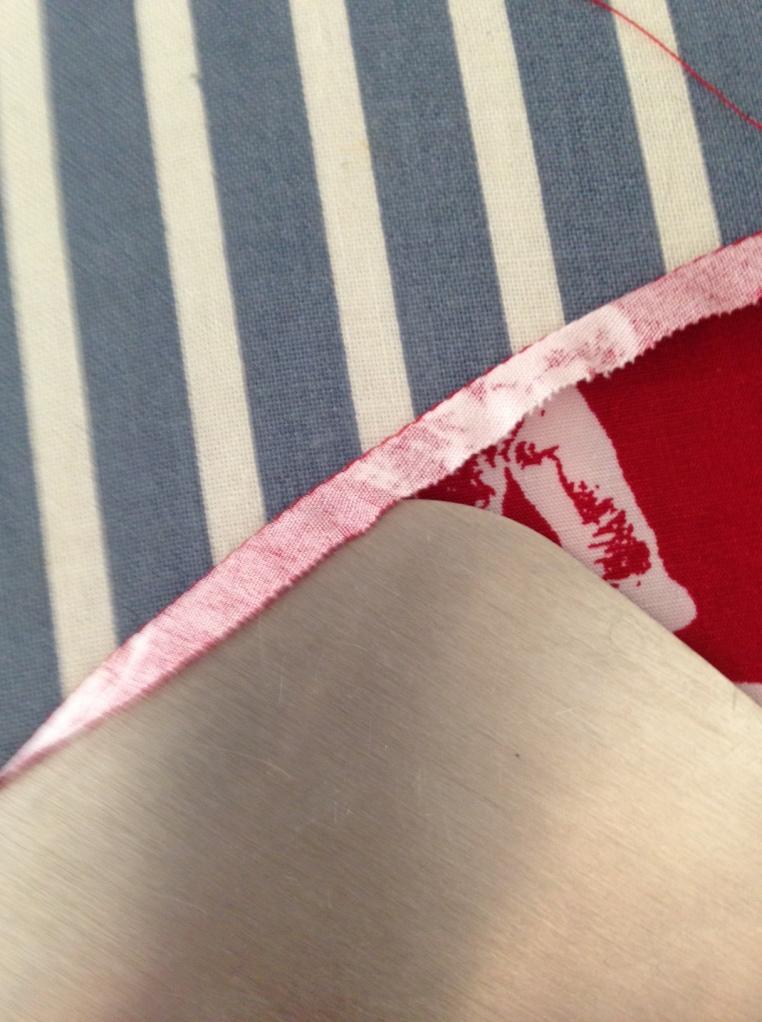 Pressing quarter inch fold 2